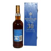 Macallan 30 Sherry BLue Box rear