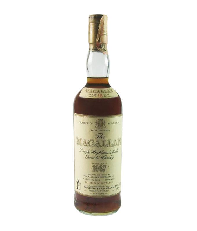 Macallan 18 Year Old Italian Import