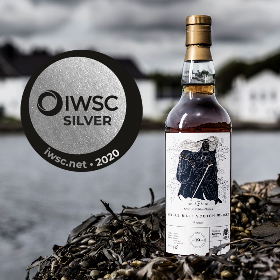 Bottle of whisky with Silver Award badge